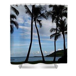 Kalapaki Beach Kauai Shower Curtain