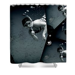 Shower Curtain featuring the photograph Kaledoscopic Mermaid by Danielle  Parent