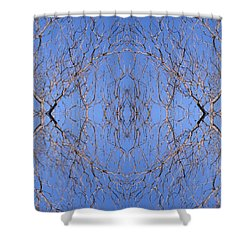 Kaleidoscope - Trees 1 Shower Curtain