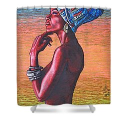 Kalimba De Luna Shower Curtain