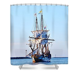 Kalmar Nyckel Tall Ship Shower Curtain