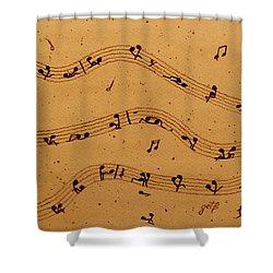 Kamasutra Music Coffee Painting Shower Curtain by Georgeta  Blanaru