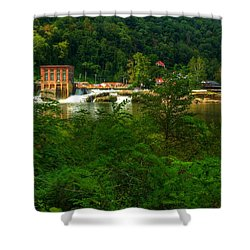 Shower Curtain featuring the photograph Kanawha Falls by Dave Files