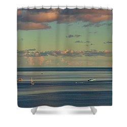 Kaneohe Bay Panorama Mural 4 Of 5 Shower Curtain
