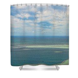 Kaneohe Sandbar Panorama Shower Curtain
