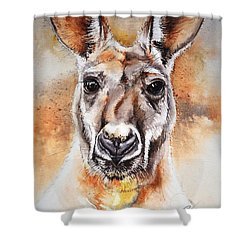 Kangaroo Big Red Shower Curtain
