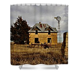 Shower Curtain featuring the photograph Kansas Castle 1 by Lynne Wright