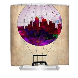 Kansas City Air Balloon Shower Curtain