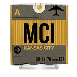 Kansas City Airport Poster 1 Shower Curtain