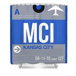 Kansas City Airport Poster 2 Shower Curtain
