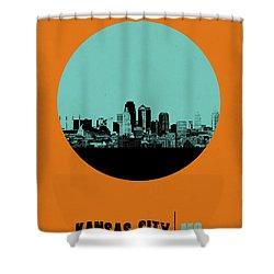 Kansas City Circle Poster 1 Shower Curtain