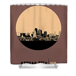 Kansas City Circle Poster 2 Shower Curtain