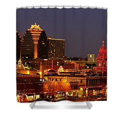 Kansas City Plaza Lights Shower Curtain