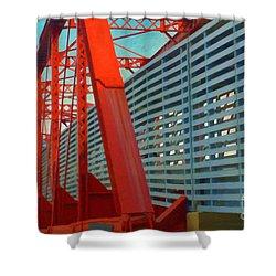 Kansas City Train Bridge - Pencoyd Railroad Bridge  Shower Curtain