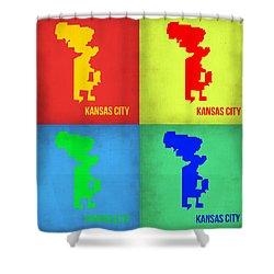 Kansas Pop Art Map 1 Shower Curtain