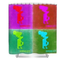 Kansas Pop Art Map 2 Shower Curtain