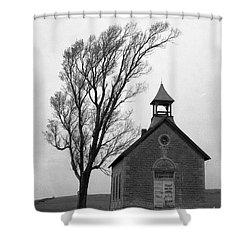 Kansas Schoolhouse Shower Curtain