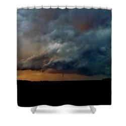 Kansas Tornado At Sunset Shower Curtain by Ed Sweeney