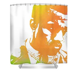 Kanye West Pop Art Shower Curtain by Dan Sproul