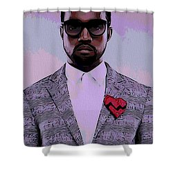 Kanye West Poster Shower Curtain by Dan Sproul