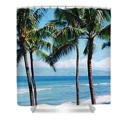 Kapalua Beach Shower Curtain by Susan Schroeder