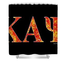 Shower Curtain featuring the digital art Kappa Alpha Psi - Black by Stephen Younts