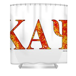 Shower Curtain featuring the digital art Kappa Alpha Psi - White by Stephen Younts