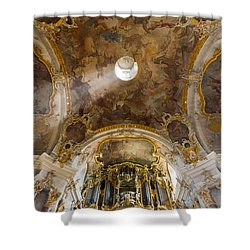 Kappele Wurzburg Organ And Ceiling Shower Curtain