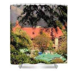 Kapurthala Palace Mussoorie Shower Curtain by Salman Ravish