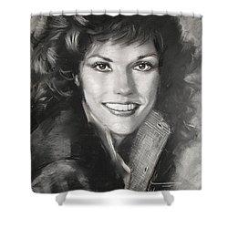 Karen Carpenter Shower Curtain by Viola El