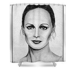 Karen Graham In 1978 Shower Curtain by J McCombie