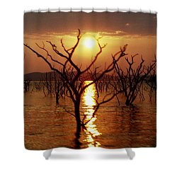 Kariba Sunset Shower Curtain