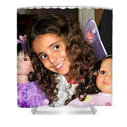 Shower Curtain featuring the photograph Karla's Dolls by The Art of Alice Terrill