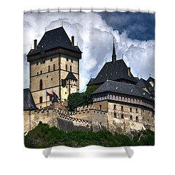 Shower Curtain featuring the photograph Karlstejn Castle In Prague 2 by Joe  Ng