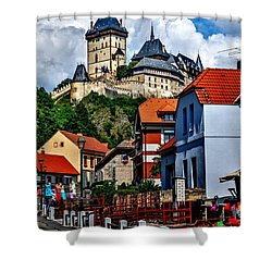 Shower Curtain featuring the photograph Karlstejn Castle In Prague  by Joe  Ng