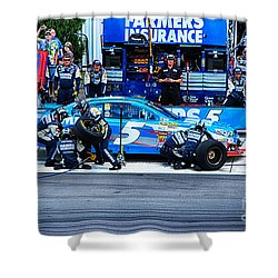 Kasey Kahne's Last Stop Before Victory Shower Curtain