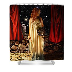 Kat As Athena  Shower Curtain