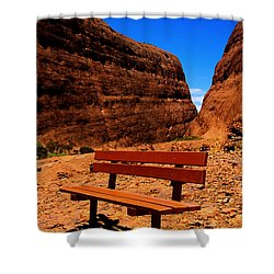 Kata Tjuta Shower Curtain by Douglas Barnard