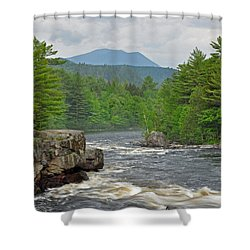 Katahdin And Penobscot River Shower Curtain
