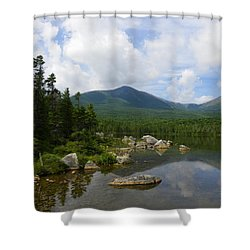 Katahdin At Sandy Stream Pond 1 Shower Curtain