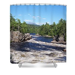 Katahdin From The Crib On The West Branch Shower Curtain