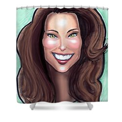 Kate Middleton Shower Curtain by Kevin Middleton