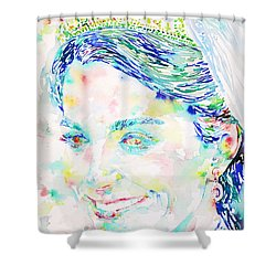 Kate Middleton Portrait.2 Shower Curtain by Fabrizio Cassetta