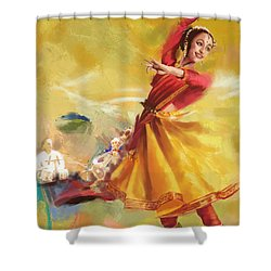 Kathak Dance Shower Curtain by Catf