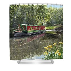 Kathleen May Chesterfield Canal Nottinghamshire Shower Curtain by Richard Harpum