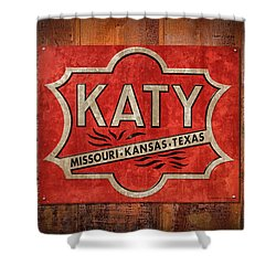 Katy Railroad Sign Dsc02853 Shower Curtain