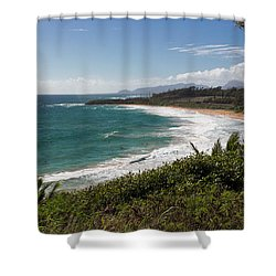 Kauai Surf Shower Curtain by Suzanne Luft