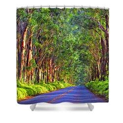 Kauai Tree Tunnel Shower Curtain