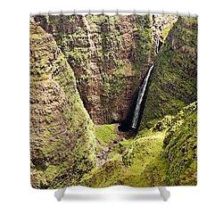 Kauai Waterfall Shower Curtain by Scott Pellegrin
