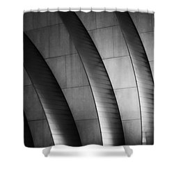 Kauffman Performing Arts Center Black And White Shower Curtain